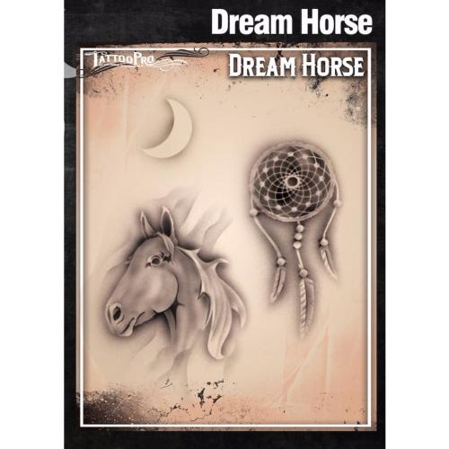 Pochoir Tattoo Pro - Stencils Dream Horse Cheval