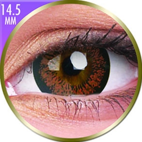 Lentilles Big Eyes 14,5mm - 1 mois - Angel Hazel