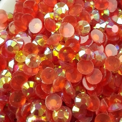 Strass 3mm - 10 000 pièces - AB Transparent Red