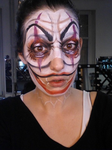 Tutoriel maquillage clown halloween femme