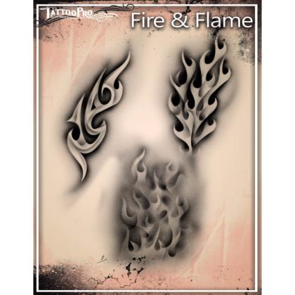 Pochoir Tattoo Pro - Stencils Fire & Flame Feu
