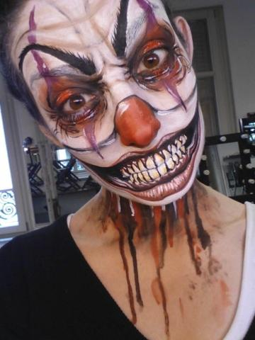 Maquillage pour Halloween : Clown