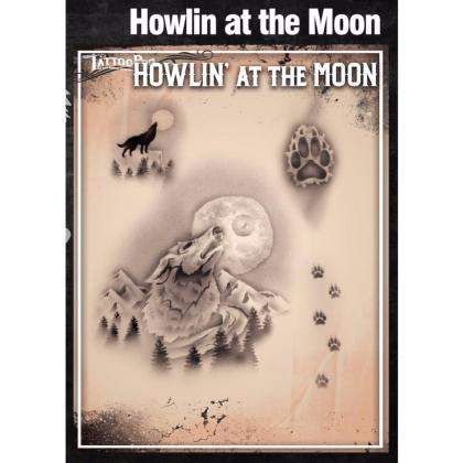 Pochoir Tattoo Pro - Stencils Howlin at the Moon Loup