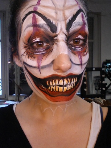 tutoriel pas à pas maquillage clown facile