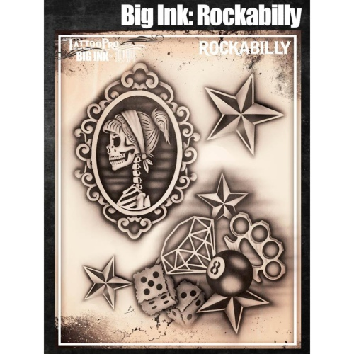 Pochoir Tattoo Pro - Stencils Rockabilly