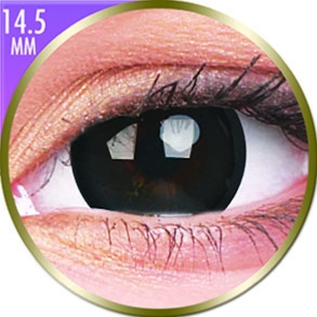 Lentilles Big Eyes 14,5mm - 1 mois - Brilliant Black