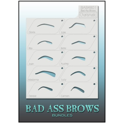 Pochoirs Sourcils BB-BABB-4801 Charismatic Eyebrow Stencils Set