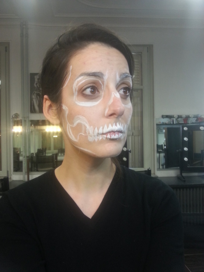 maquillage halloween squelette - tutoriel