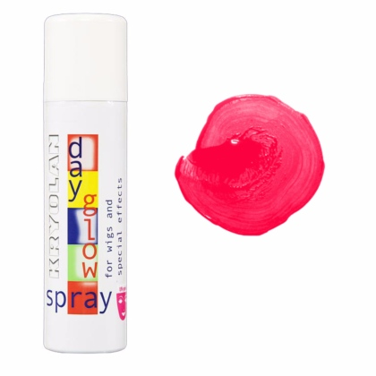 Spray colorant FLUO pour les cheveux UV Day Glow Spray 150ml ROUGE