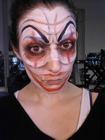 Tutoriel maquillage clown femme