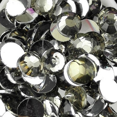 Strass 6mm - 1000 pièces - Multiple Facets Gris Transparent