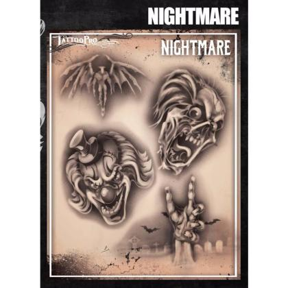 Pochoir Tattoo Pro - Stencils Nightmare Cauchemar