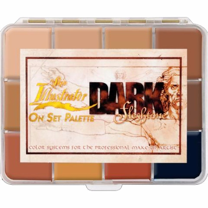 Palette de 10 Fards à Alcool : On Set Dark Fleshtone