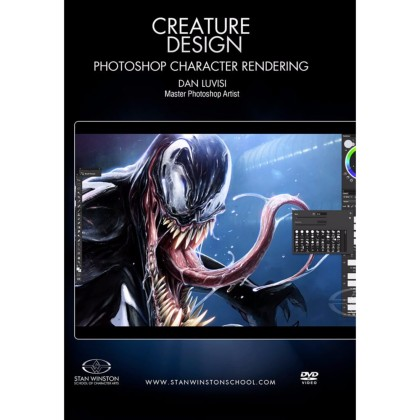 DVD Dan LuVisi : Creature Design - Photoshop Character Rendering