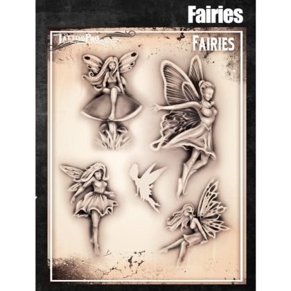 Pochoir Tattoo Pro - Stencils Fairies Fées