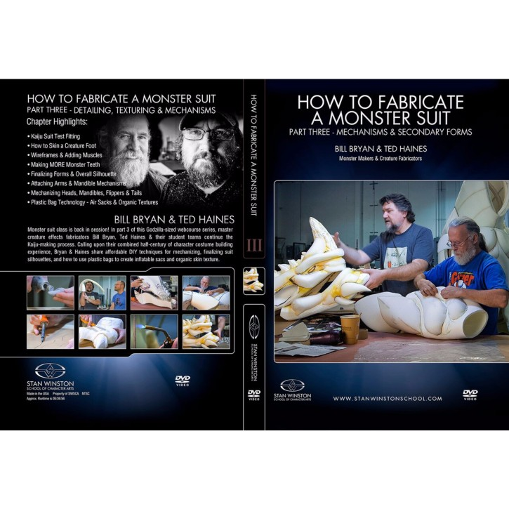 DVD Bill Bryan & Ted Haines : How to fabricate a monster suit. Part 3