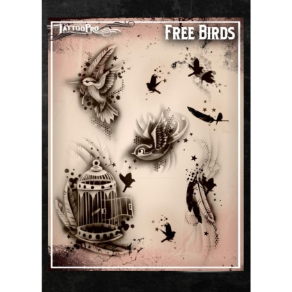 Pochoir Tattoo Pro - Stencils Free Birds Oiseaux