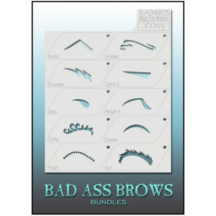 Pochoirs Sourcils BB-BABB-4805 showy eyebrow stencils set