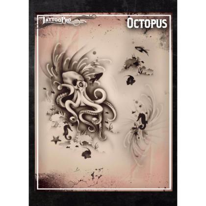 Pochoir Tattoo Pro - Stencils Octopus Pieuvre