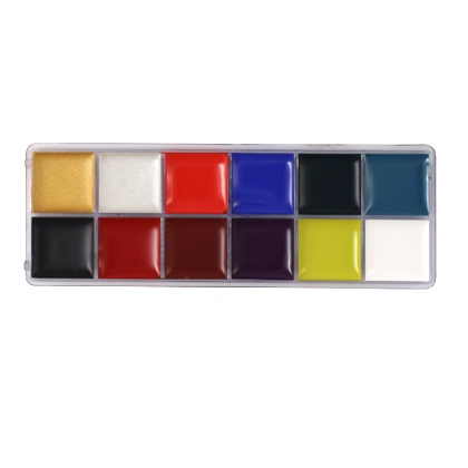 Fards Gras Palette 12 couleurs 55g