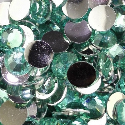 Strass 6mm - 1000 pièces - Multiple Facets Lake Blue Green