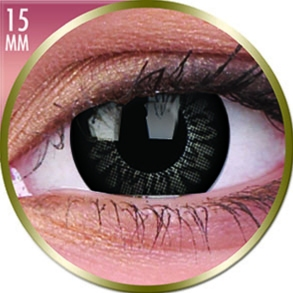 Lentilles Big Eyes 15mm - 3 mois - Awesome Black