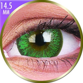 Lentilles Big Eyes 14,5mm - 1 mois - Paris Green