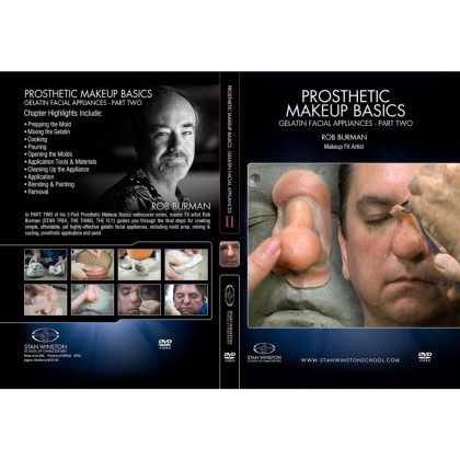 DVD Rob Burman : Prosthetic Makeup Basics - Gelatin Facial Appliances Part 2